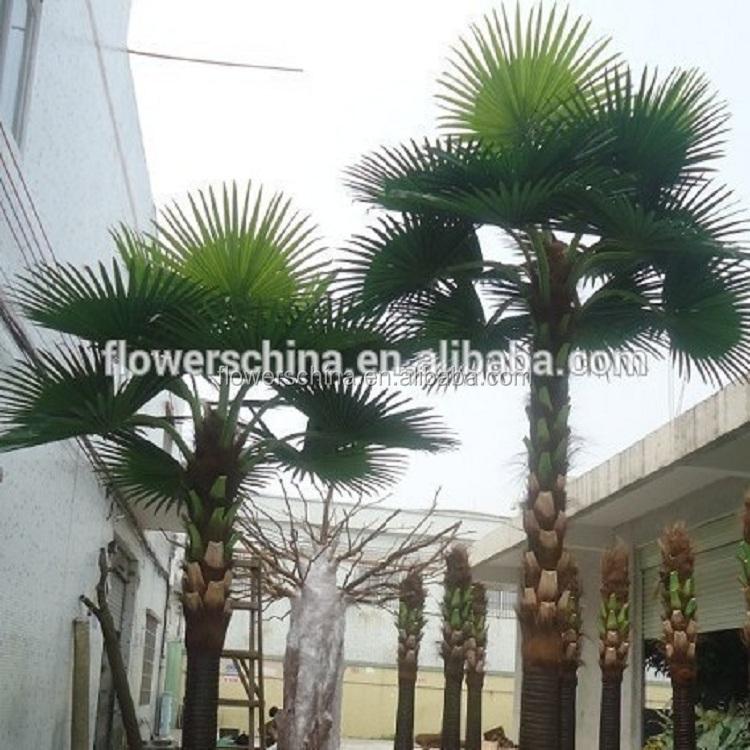 Gros d cor faux plastique artificielle arbre de noix de coco fleurs guirlande de d coration id - Arbre noix de coco ...