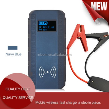 Factory Price high quality 12000mAh car jump start power wireless charger
