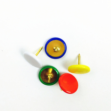 china school and office stationery assorted color thumbtack plastic round head office thumb tacks