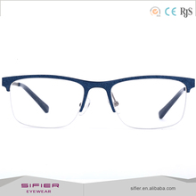 Wholesale custom logo fashion metal eyeglasses frames with diamond