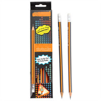 Non-toxic black lead pencils with erasers sets