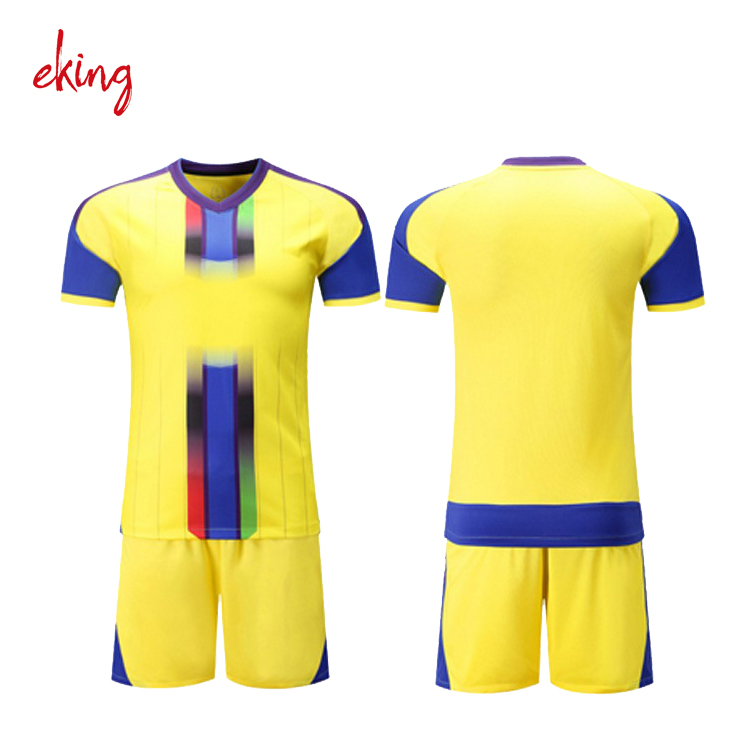 China sublimated customized soccer jersey manufacturer, soccer uniform yellow green