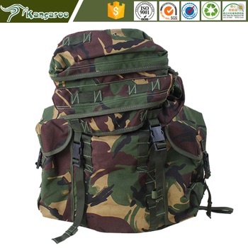 2016 Free Sample Waterproof Woodland Camouflage Molle Army Bag Tactical