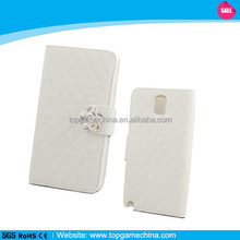 Book Style PU Leather Wallet with Blingbling Design For Samsung Galaxy Note 3 N9000
