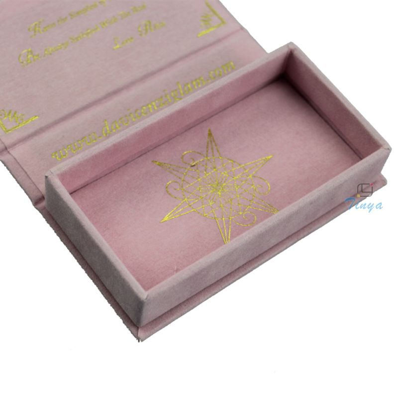 Custom elegant pink eyelash box