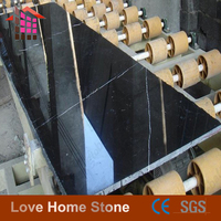 Chinese hot sale polished black marble nero marquina marble