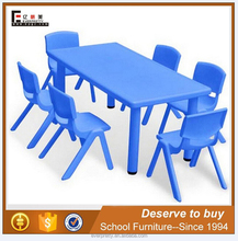Blue plastic used school furniture nursery preschool tables and chairs