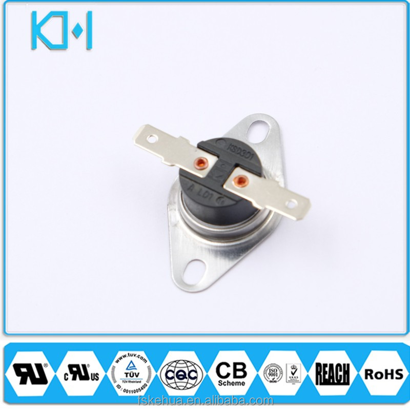 UL TUV ISO CQC 16A Foshan Electronic Thermostat Water Heater Bimetallic Disc Termostato KSD301 Thermal Fuse