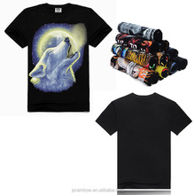 2016 new design 100% cotton animal wolf men t-shirt printing