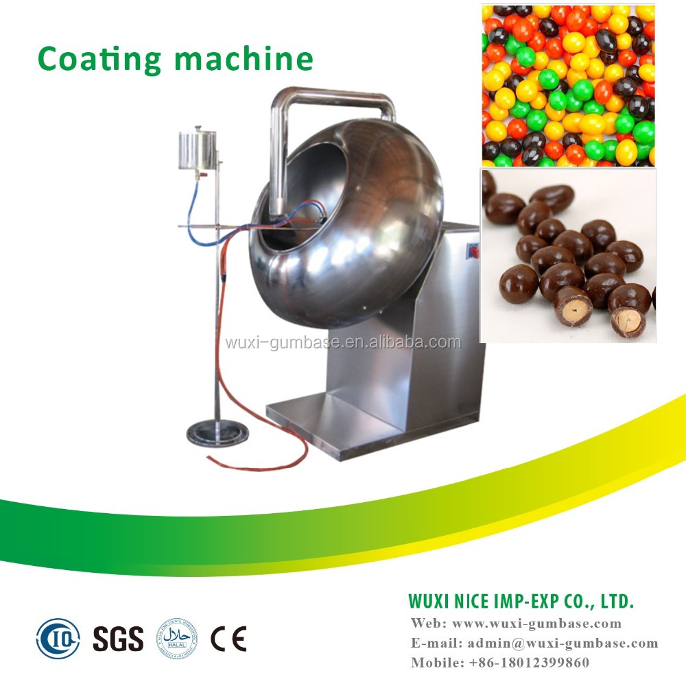 Small chocolate candy coating pan machine for polishing