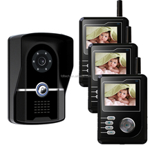 2.4 inch High-strength tempering glass 2.4ghz digital long range multi apartment wireless video door phone intercom