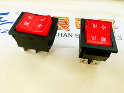 cold air blower switch/double unit rocker switch,On-off illuminated electrical boat round 2/3pin rocker switch