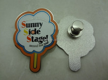 die struck alloy metal sunny side stage lapel pin