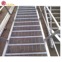 Galvanized, Checker Plate Nosing,Quality Bar Grating Stair Tread