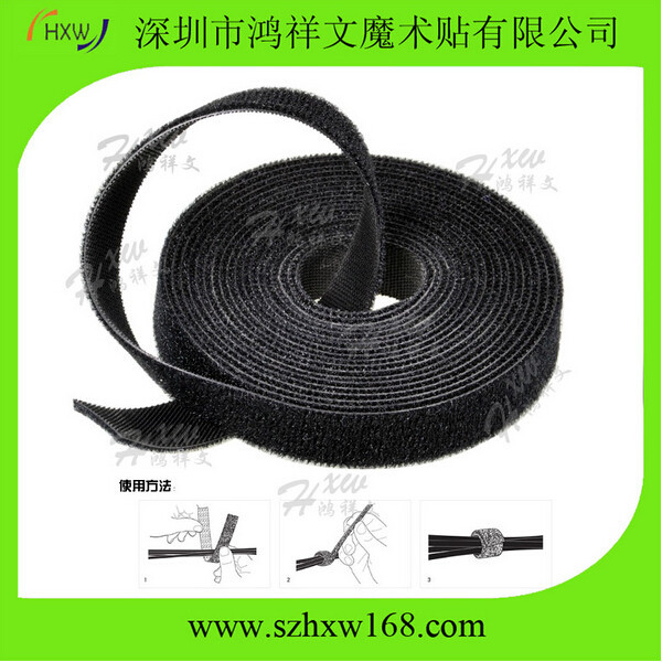 stretch cable tie with Reusable fastener clothing