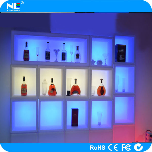40*40*40cm Cheap led cube chair multi color bar chair plastic chair ice pail flower display shelf light box shelf
