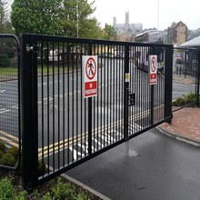2017High anti collision safety door /double leaf swing gate