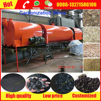 Continuous Wood shavings/ Wood chips charcoal making machine, Rotary carbonization machine