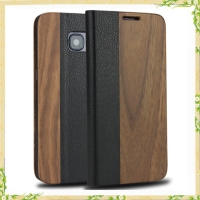 New walnut wooden flip case cover for galaxy s7 case