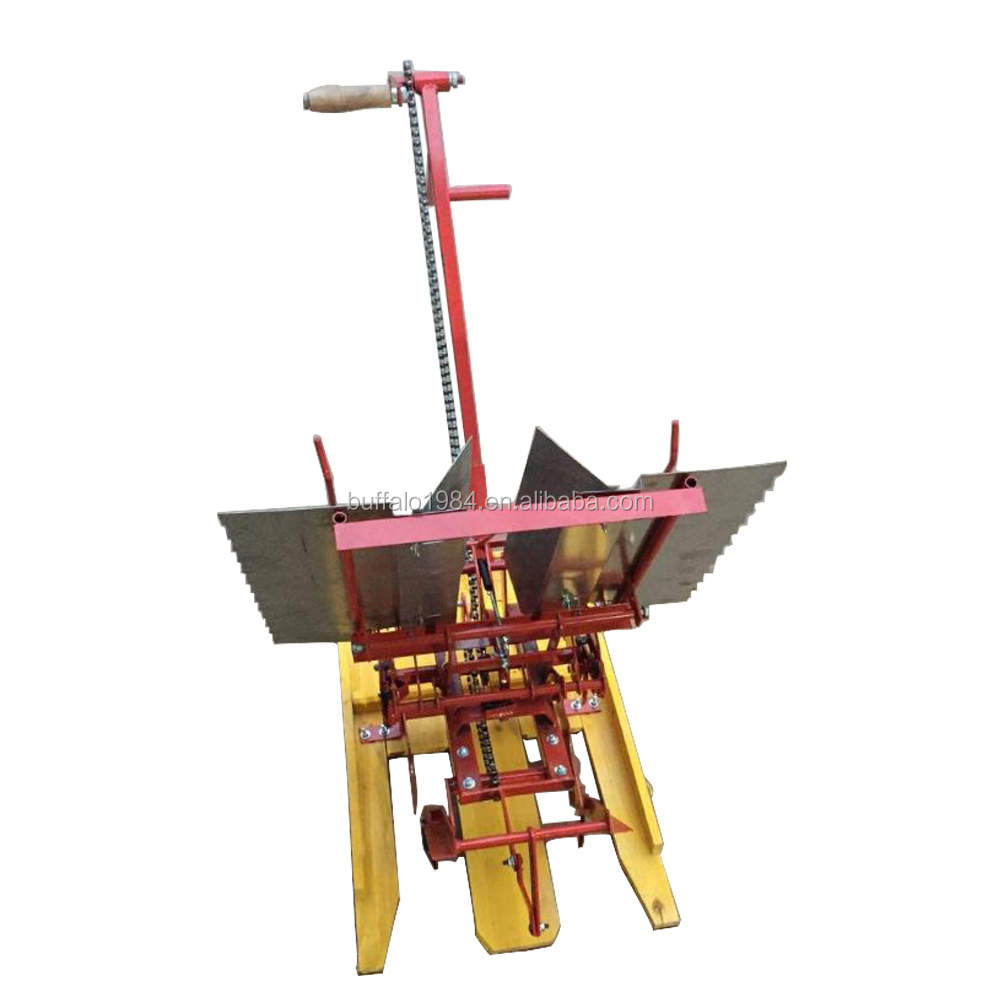 Seeder machinery 2 row hand held rice transplanter with good quality