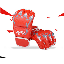 training Fitness half finger cheap PU leather oem fight boxing gloves custom