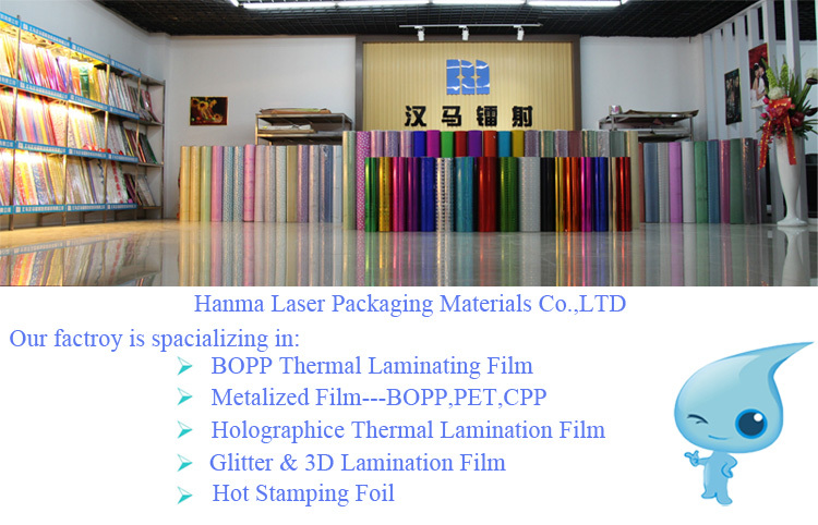 Hanma Laser 18 Mic BOPP Transparent Thermal Holographic Film