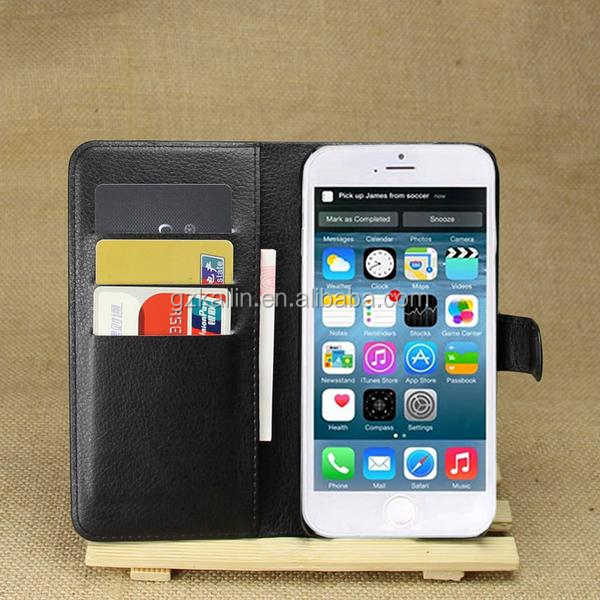 book style mobile phone leather case cover for iphone 6