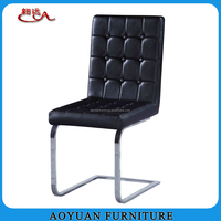 black leather comfortable chair for dining room