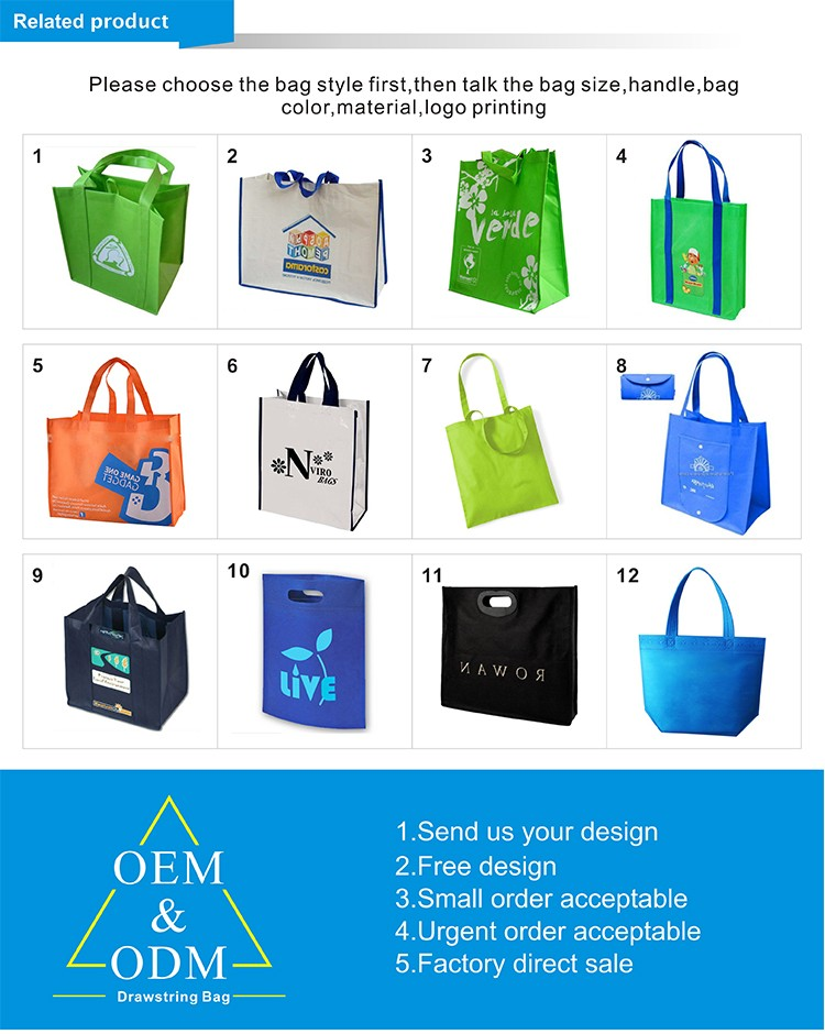 2017 Cheapest Price Promotional Customized Recycle PP Non Woven Bag