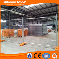 galvanized cyclone temporary wire fence