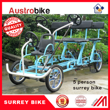 ELECTRIC SURREY BIKE 4 person surrey bike with roof LED lighting