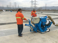 moving floor sand blasting machine/shot blaster for concrete road or steel deck