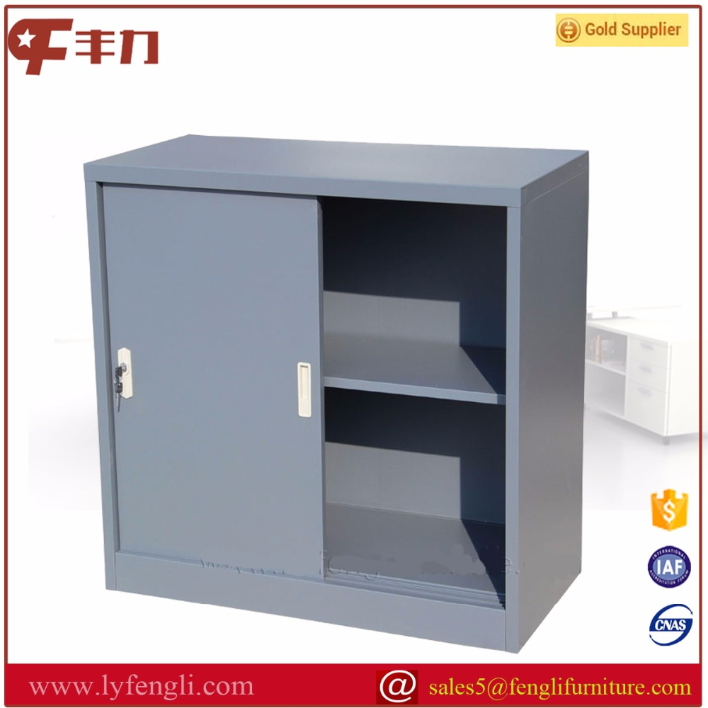 Laboratory equipment grey coating small sliding metal storage cabinets