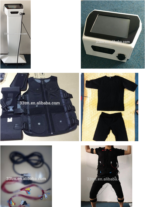 electro stimulation machine with training electrode suits