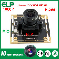high speed 2mp 32x32/38x38mm AR0330 sensor h.264 driver free usb pc camera with microphone and night vision