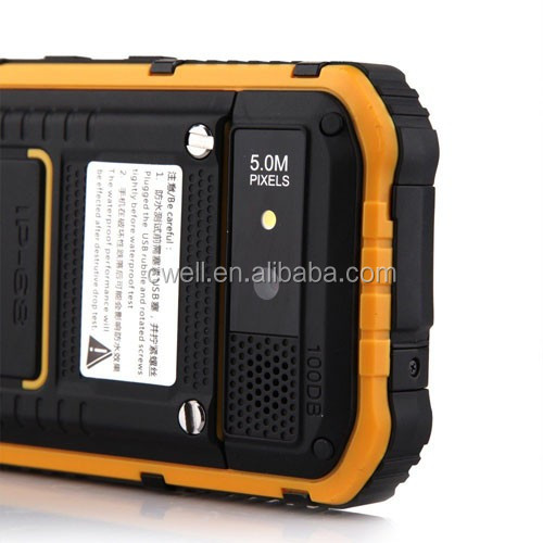 ALPS Mobile Phone A8+ 4 inch MTK6582 Quad Core Dual SIM IP68 Waterproof Rugged Smartphone with 1GB RAM 8GB ROM NFC GPS