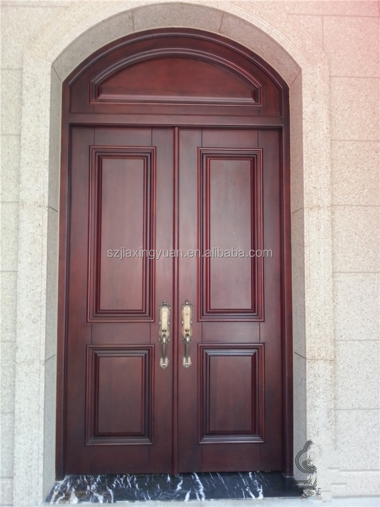 Residential solid wood indian main door designs buy for Residential main door design