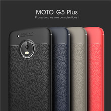 Luxury Litchi Pattern TPU Back Cover Phone Case for Motorola Moto G5 G5 Plus, For Moto G5 TPU Case Cover