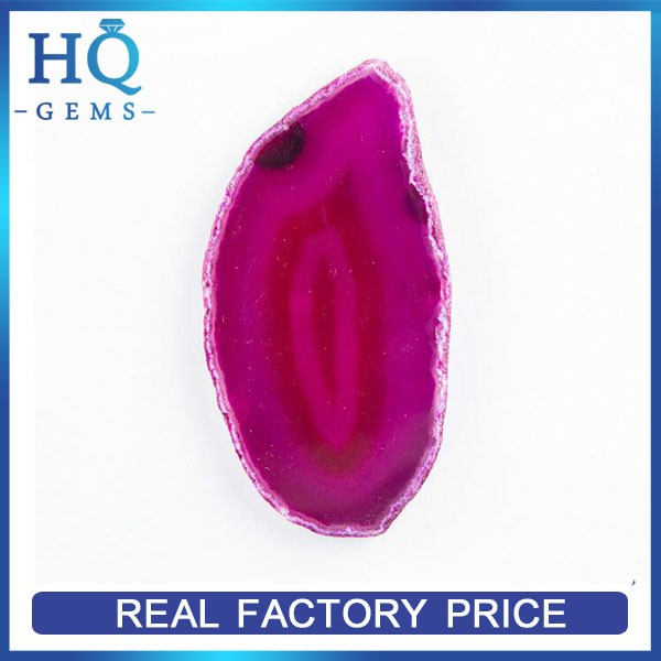 Factory flash sale brazilian natural rose red agate slice coaster