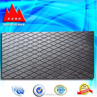 anti slip rubber mat rubber sheet for conveyor roller of China factory
