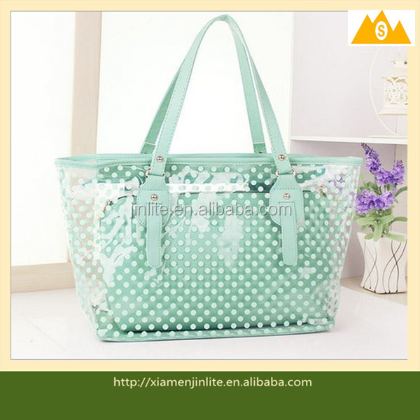Hot Sales fashion clear plastic handbags