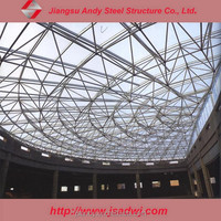 Large Span Steel Space Grid Structure Dome roof for Conference hall