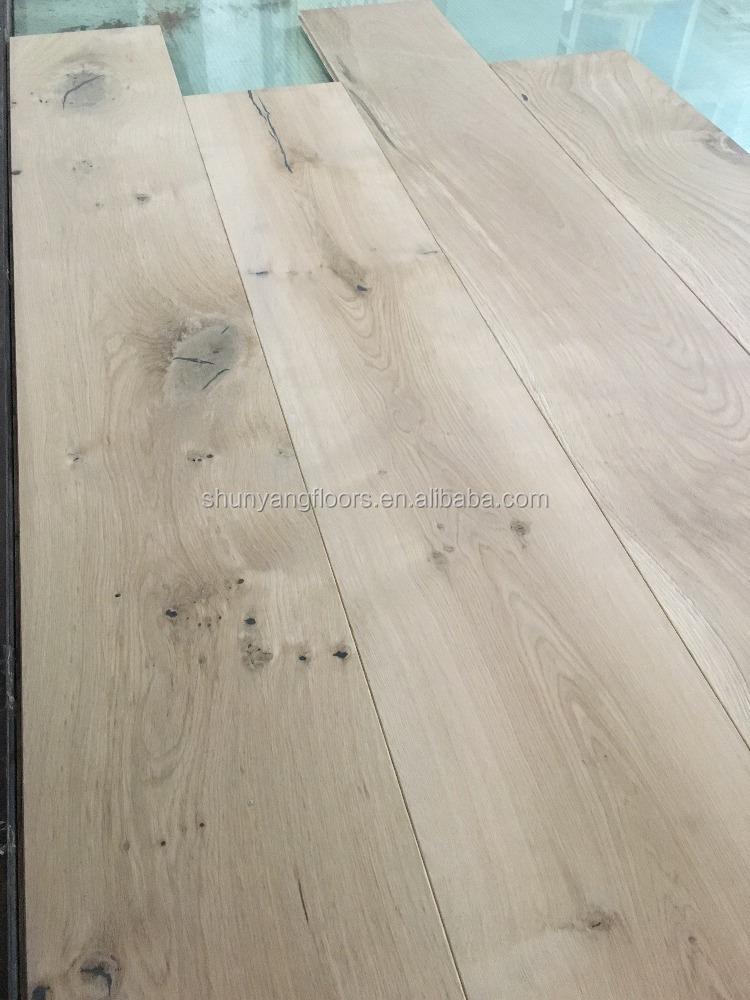 European Unfinished Oak Engineered Wood Flooring and wall panels