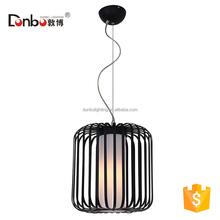 Metal Material and Rustic Color pendant lighting birdcage lamp