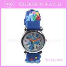 2013 bright color silicone jelly animal watches for children