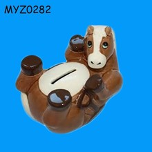 Ceramic Horse Design Piggy Bank Money Box