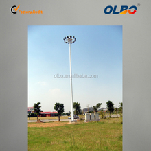 Outdoor led football field lighting 30m galvanized steel poles solar light tower with lifting system