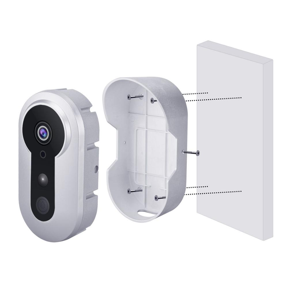 Silver Ring Battery Operated Door Bell Wifi Video Doorbell with Camera