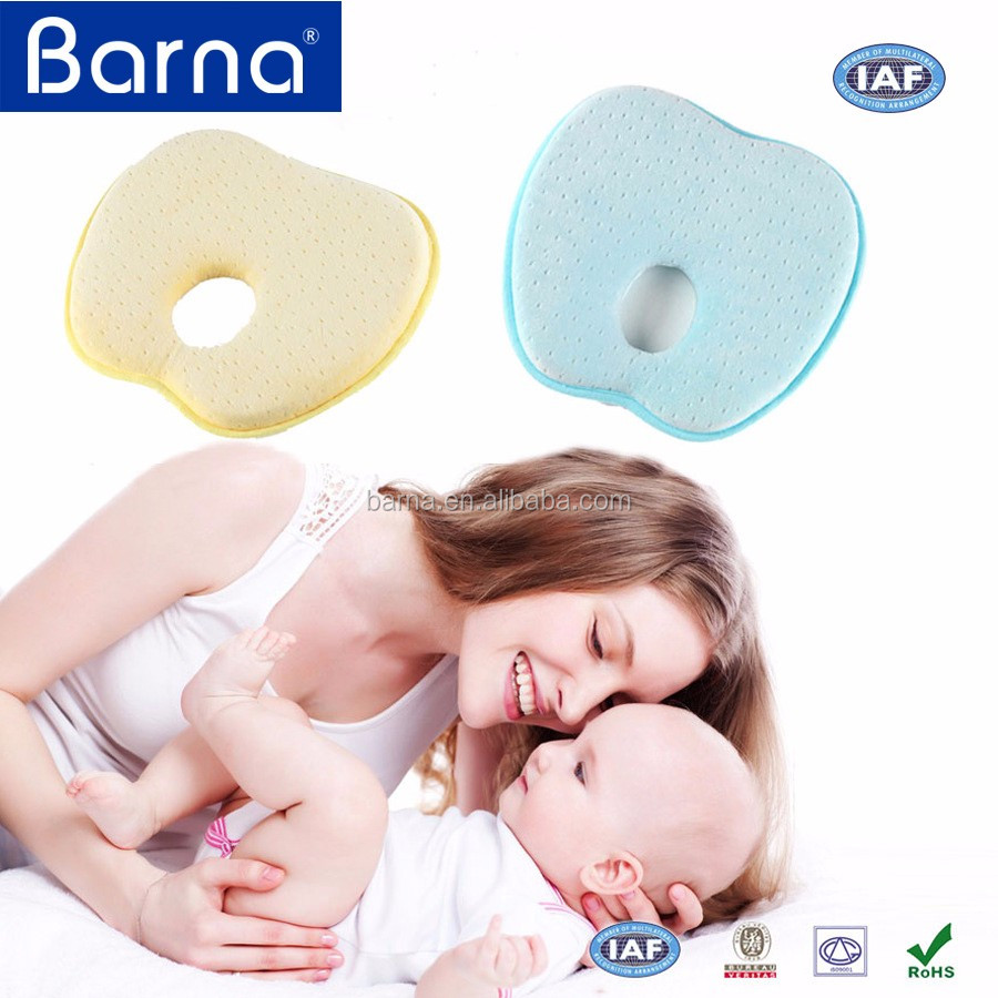 best selling 100% cotton custom printing apple shaped soft and comfortable memory foam baby pillow
