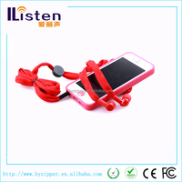 beautiful love gift for girl multicolor shoe lace headphones from china manufactures